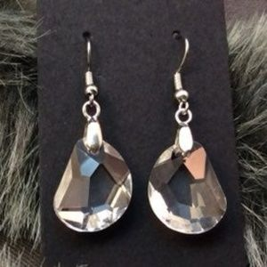 Chunk Crystal Drop Earrings